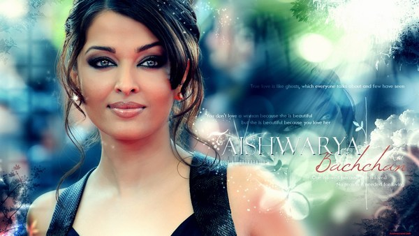 Full makeup Aishwarya Rai Photo In Black Dress