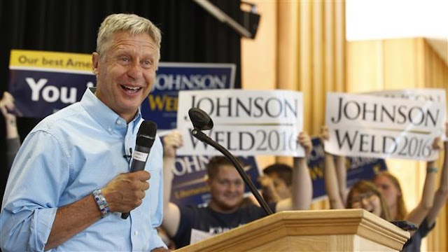 US Libertarian presidential candidate Gary Johnson  lands endorsement from major US daily