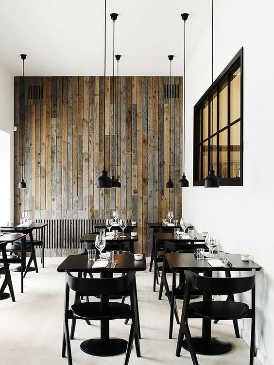 Inspiração para uma cafeteria simples e charmosa