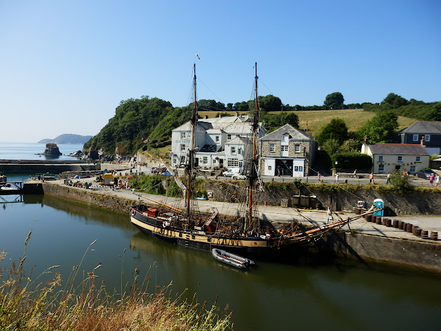 Tall ships in Charlestown, Cornwall harbour