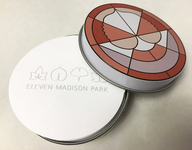 Eleven Madison Park Menu Tin