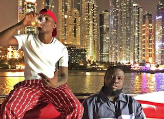 Wizkid Hangout With His Millionaire Friend Ray Hush Puppi In Dubai (Photo)