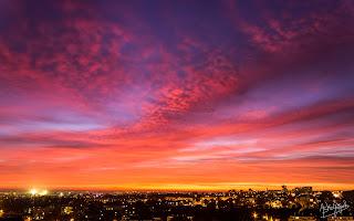 Spectacular show at dusk