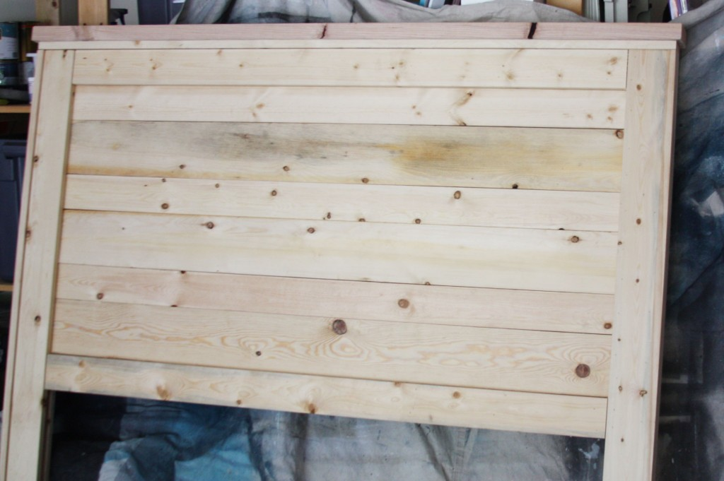 Rustic Headboard Aged Wood