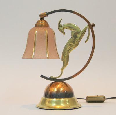 Lámpara de sobremesa francesa Art Decó
