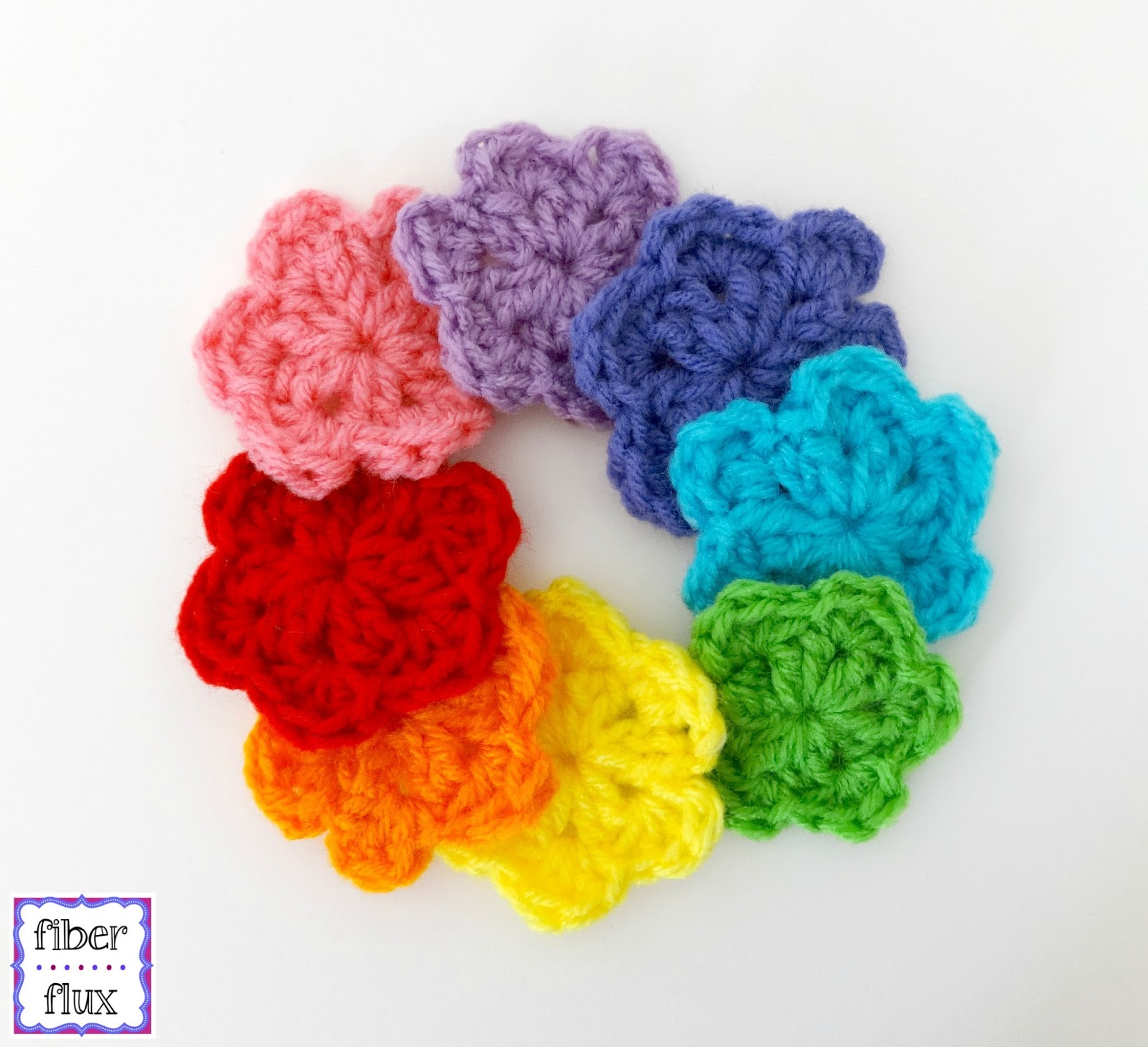 Hand Crocheted Festival Flow top Rainbow Flower Mama