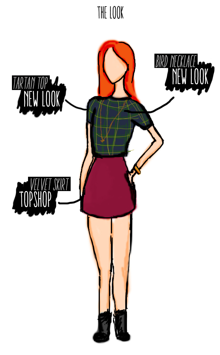 Sketch of What I Wore to Belfast