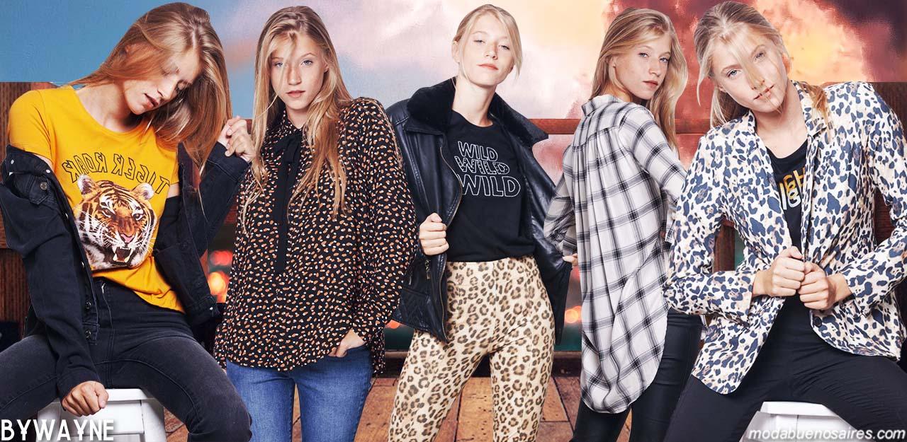 Moda invierno 2019 ropa de mujer. Camisas, sweaters, camperas, pantalones animal print, moda invierno 2019 en Argentina.