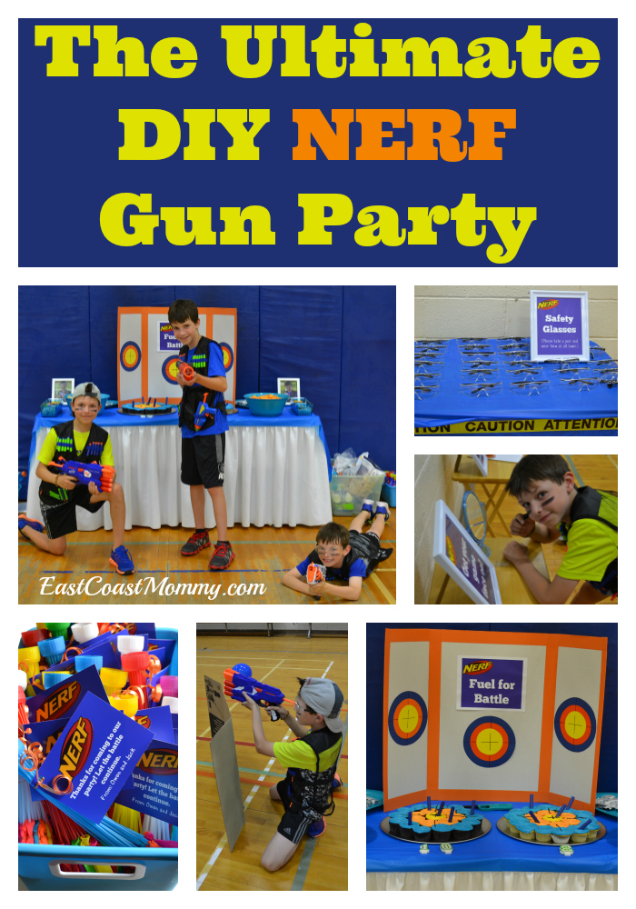 photo regarding Nerf Targets Printable called East Coastline Mommy: Epic Do-it-yourself NERF Occasion