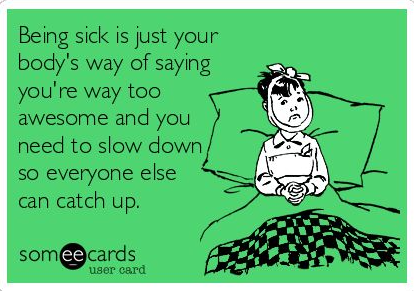 Dealing with a cold and chronic illness
