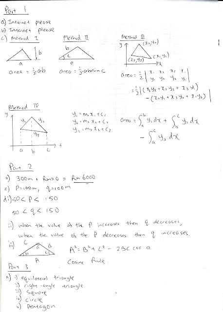 Jawapan Kerja Projek Matematik Tambahan 2012
