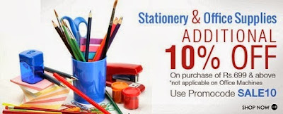 Enjoy Additional 10% Off on Stationary & Office Supplies Products
