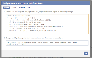 Recommendations Box - Desenvolvedores do Facebook 2