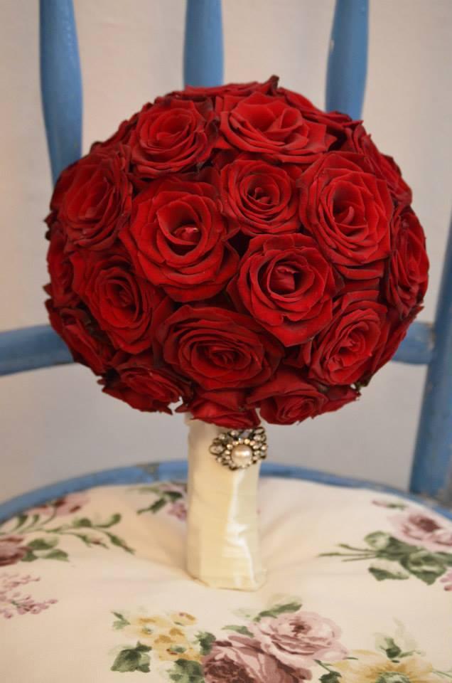 Flower Decor Nunta Buchet Mireasa Din Trandafiri Rosii Si