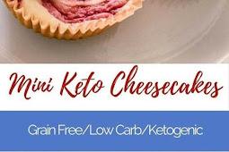 Mini Ketogenic Strawberry Cheesecake