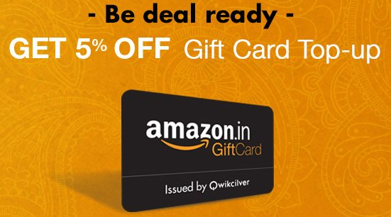 Get Rs.50 Off on Amazon Gift Cards Worth Rs.1000