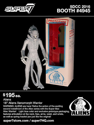 "San Diego Comic-Con 2016 Exclusive Prototype Super Size Alien Warrior 18"" Action Figure by Super7"