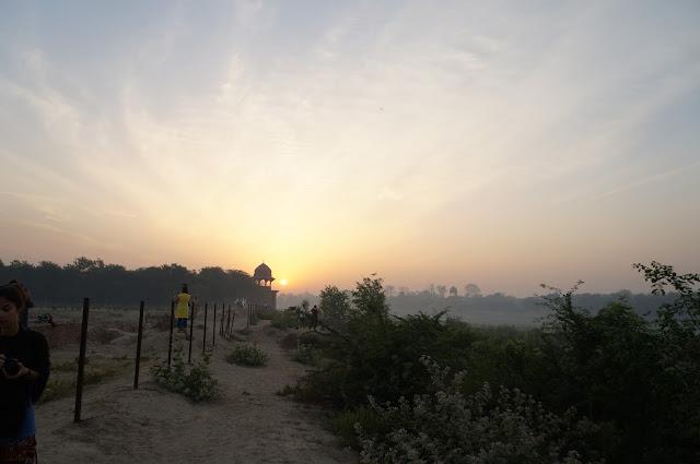 Pagi di Agra, India