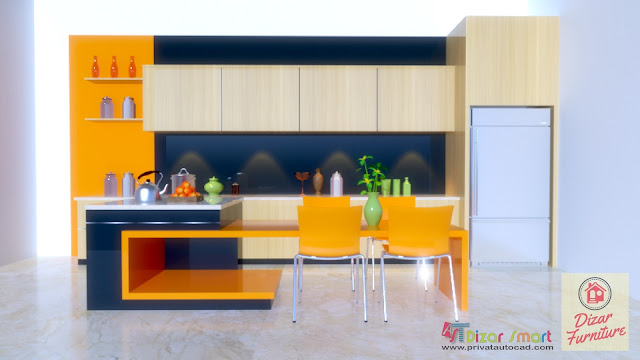 Kitchen set minimalis modern 2018,jasa kitchen set bekasi,Dizar furniture