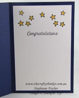 www.thecraftythinker.com.au, Moon Baby, baby card, #thecraftythinker, Stampin Up Australia Demonstrator, Stephanie Fischer, Sydney NSW