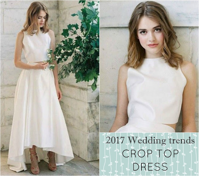 2017 Ultimate wedding trends: the crop-top dress. Dress by MillyBridal UK