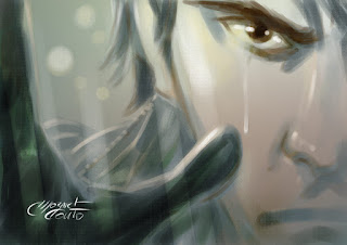 Crying, Made with Gimp Painter