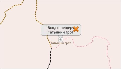 Кнопка меню для объекта локальной векторной карты