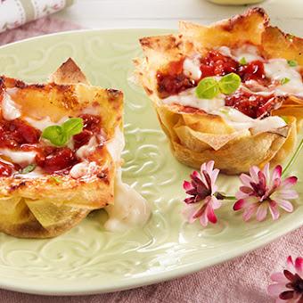 Ricette creative per la festa di San Valentino: Mini lasagne con mozzarella filante