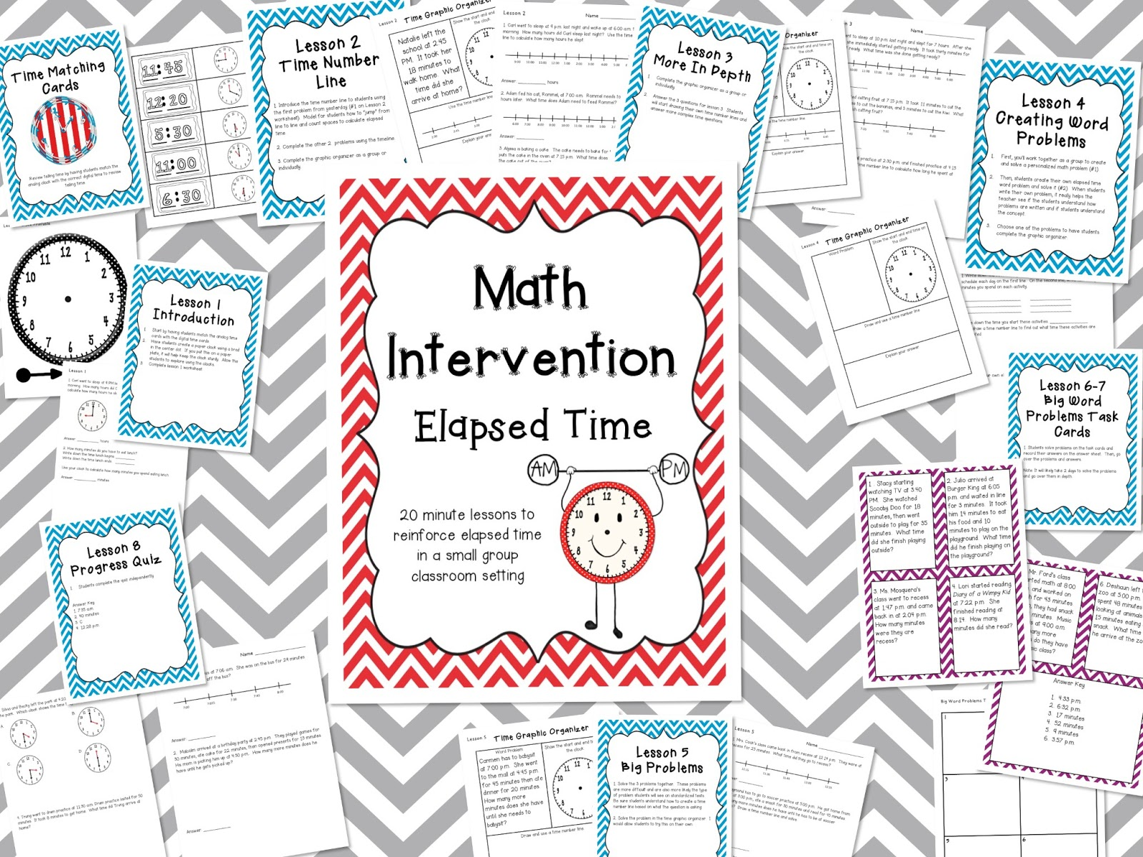 Common Core Activities Math Intervention Elapsed Time