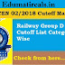 Railway Group D (CEN 02/2018) Mark Sheet & Answer Key 2019