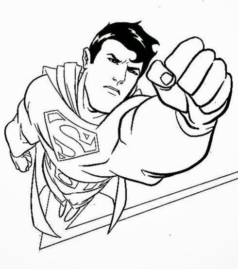 Superman coloring sheets free coloring sheet for Superman coloring pages to print