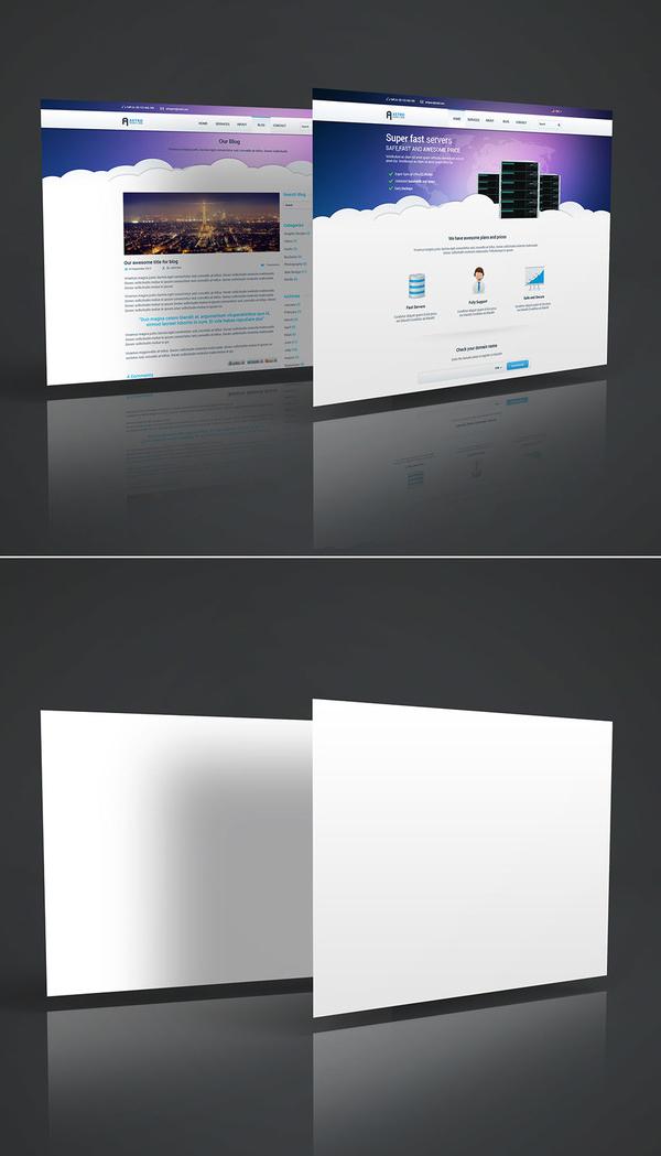 Mockup terbaru 2017 gratis - Free 3D Website Display Mockup