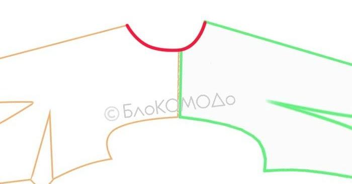 блокомодо построение воротника стойки прилегающего к шее