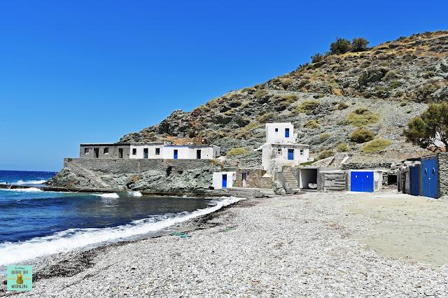 Playa Agios Georgios, isla de Folegandros (Grecia)