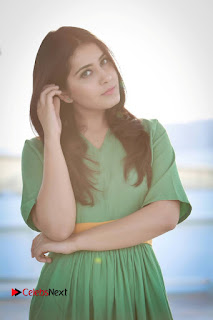 Actress Raashi Khanna Latest Picture Shoot Gallery in Green Long Dress  0001.jpg