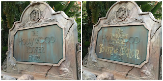 hollywood studios tower of terror changing sign