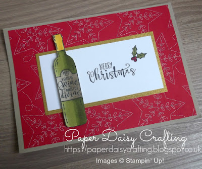 Christmas card with Half Full from Stampin' Up!