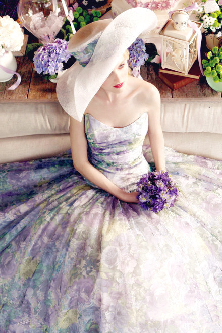 spring 2016 wedding dress trend floral prints by grace kelly