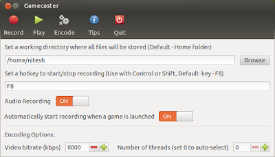 Gamecaster Updated for Ubuntu 12.10