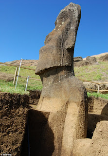 The Easter Island heads do have BODIES
