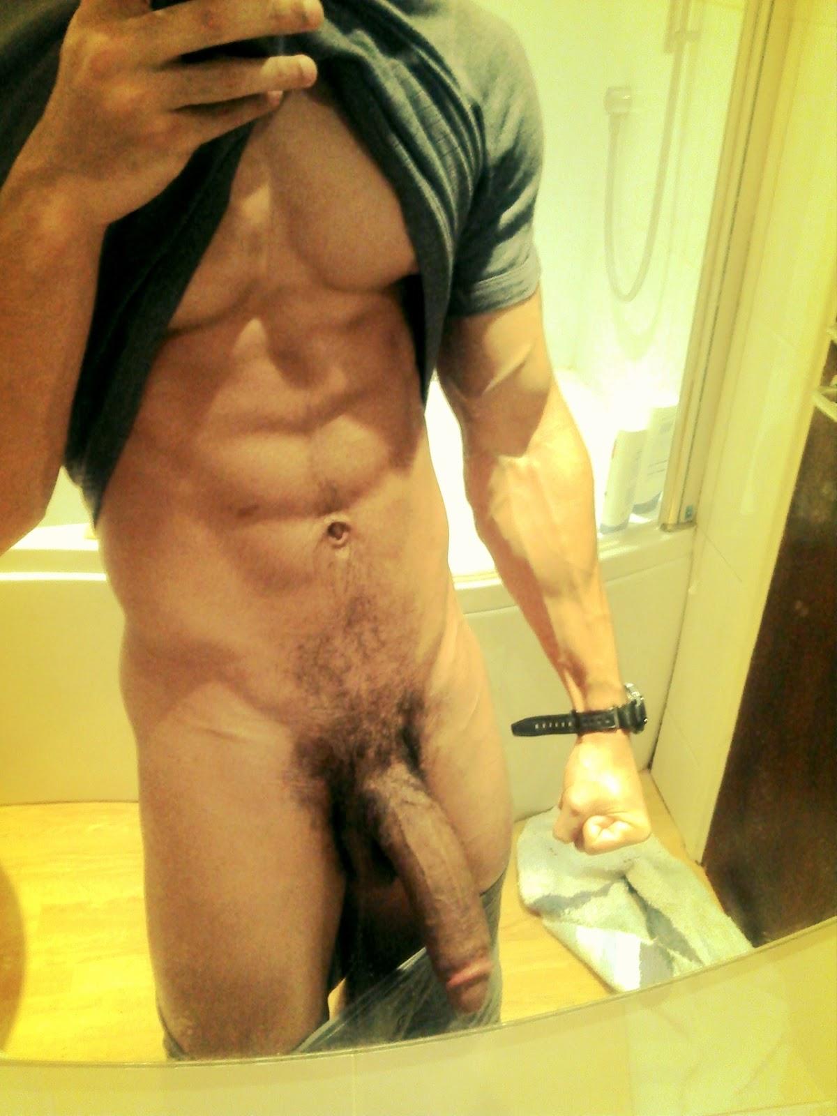 Nude man self shots