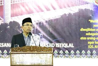 Ceramah di Masjid Istiqlal, Ini Pesan Penting TGB