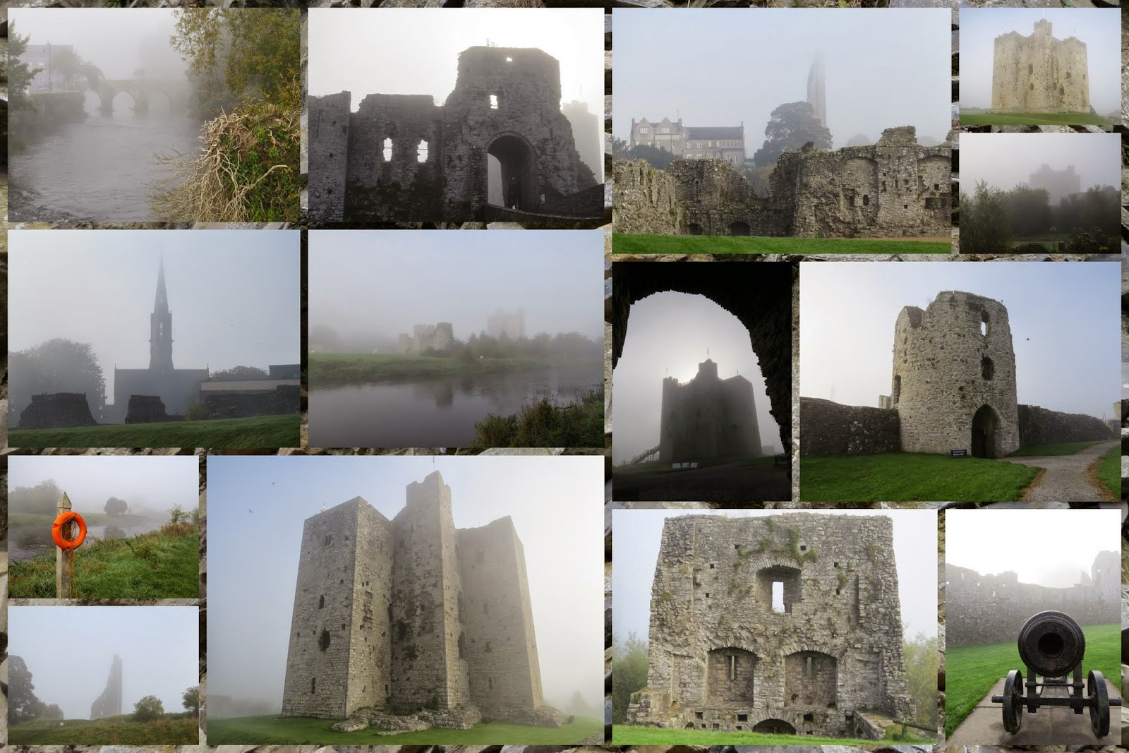 Ireland - Trim Castle in Fog