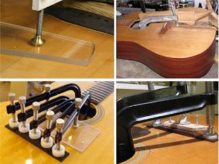 ремонт деки и струнодержателя гитары
