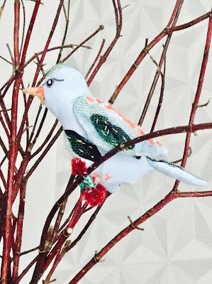 art textile paradisier hélène le verre