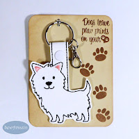 Westie or Cairn Dog Breed Key Chain, Purse Charm