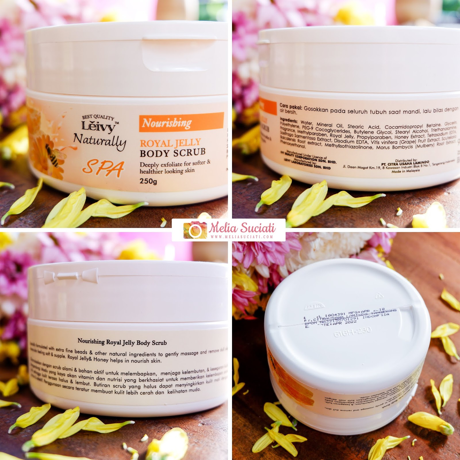 Review Leivy Naturally Body Scrub dan Facial Foam