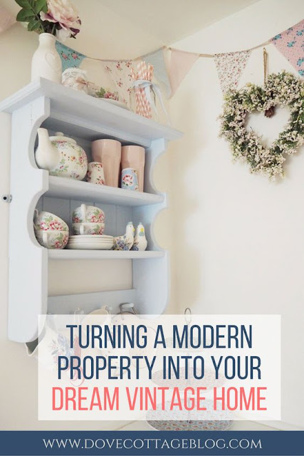 Tips on how to turn a modern property into your dream vintage country cottage style home, on a tight budget, and with the use of accessories only. Just because you're currently renting, live in an apartment or flat, or are simply not in your 'forever home' just yet, it doesn't mean you can't live in beautiful country-inspired interiors. Here's some tips on how I've achieved this within my home.