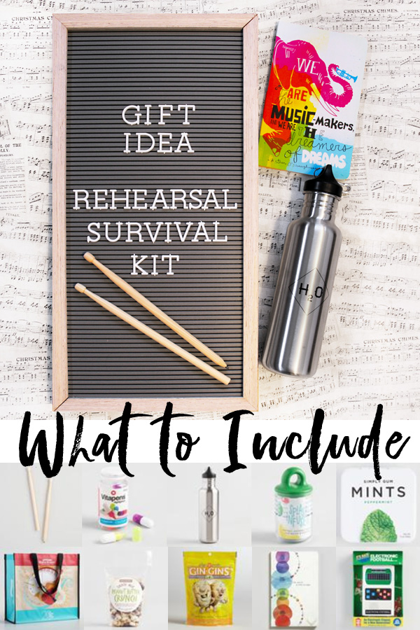 Gift Ideas for Musicians Rehearsal Survival Kit Theater Nerd Gifts Theater Geek Gifts