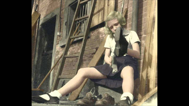 BDM girl Color Photos World War II worldwartwo.filminspector.com